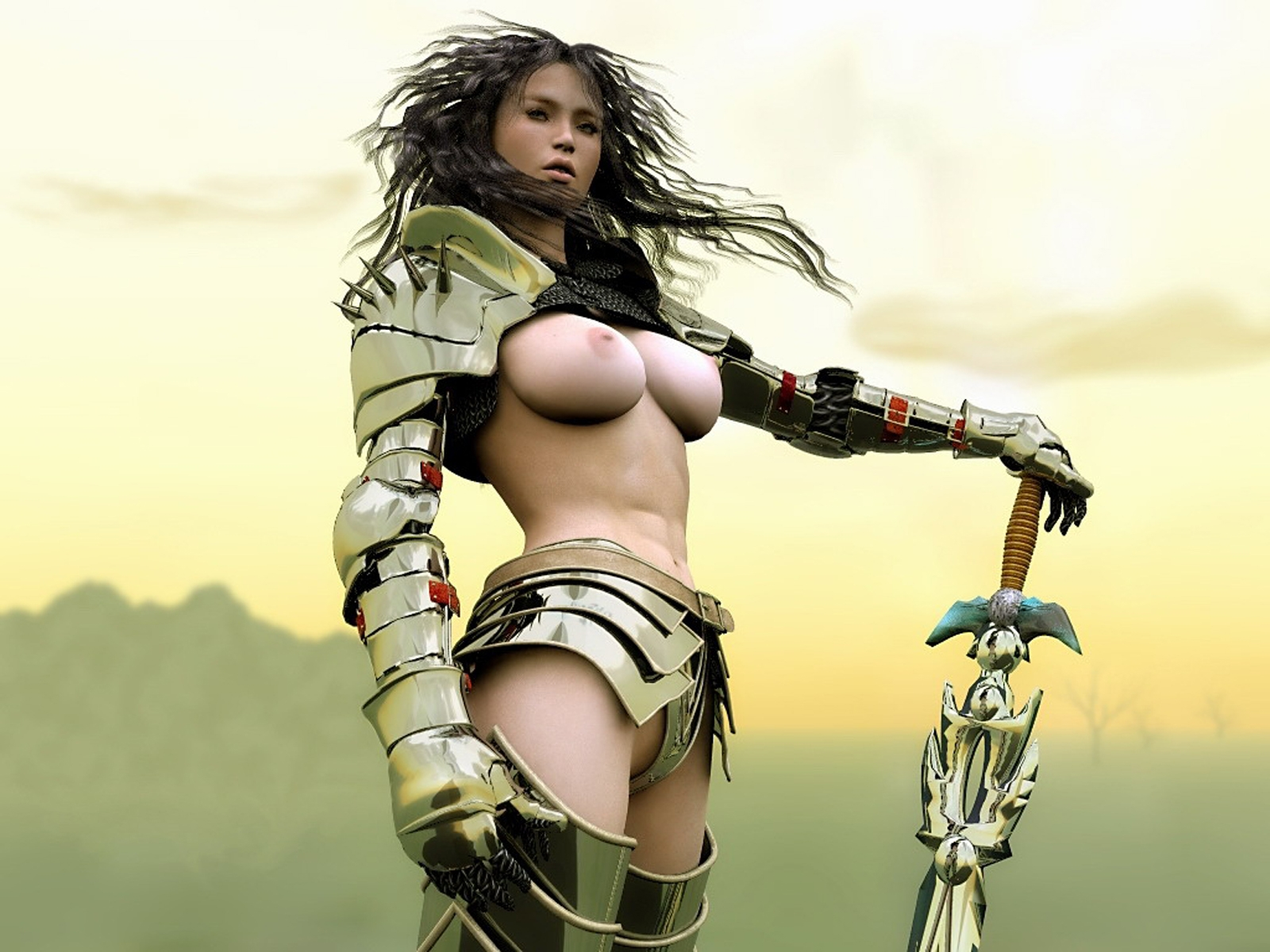 Erotic warrior woman porn scene